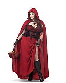 Adult Dark Red Riding Hood Plus Size Costume