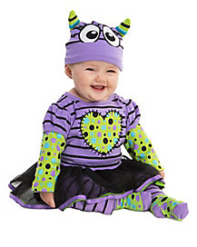Purple Boo Monster Baby Costume