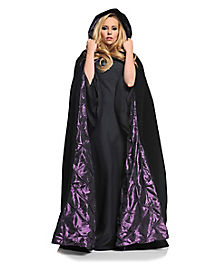 Black and Purple Adult Womens Cape