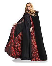 Black and Red Adult Womens Cape