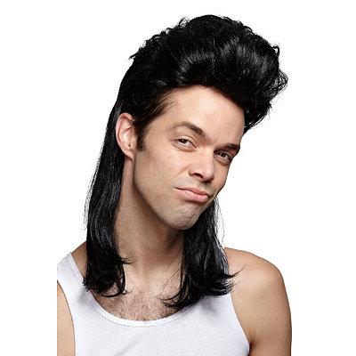 Black Mullet Wig