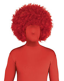 Red Afro Adult Wig