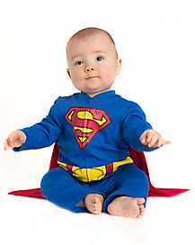 Superman Caped Baby Coverall