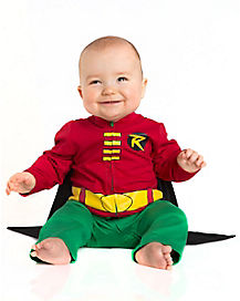 Baby One Piece Caped Robin Costume - Batman