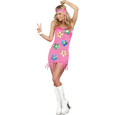 Vintage Inspired Halloween Costumes Adult Groovy Baby Hippie Costume $39.99 AT vintagedancer.com