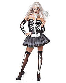 Adult Masquerade Skeleton Costume