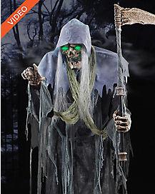 6.5 Ft Sickening Reaper Animatronics - Decorations