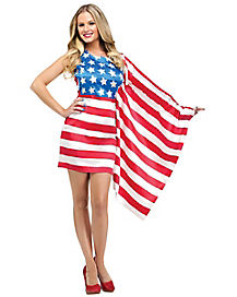 American Beauty Adult Womens Dress