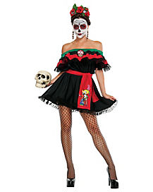 Adult Senorita Death Costume