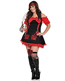 Pirate Hottie Adult Womens Plus Size Costume