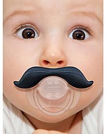 Gentleman Black Mustache Pacifier