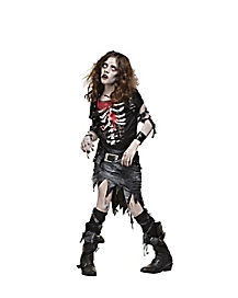 Kids Undead Goth Zombie Costume