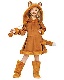Kids Sweet Fox Dress Costume