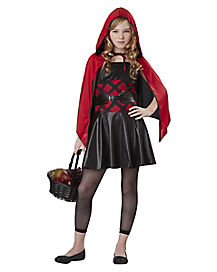 Kids Edgy Red Riding Hood Costume