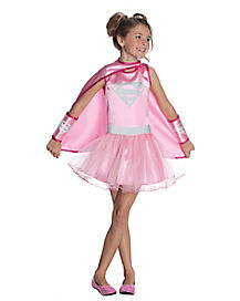 Supergirl Pink Tutu Girls Costume
