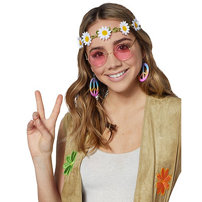 Vintage Inspired Halloween Costumes Hippie Costume Kit $12.99 AT vintagedancer.com