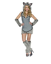 Adult Sexy Gray Wolf Costume