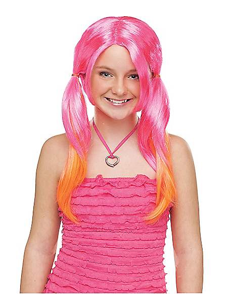 Pink And Orange Wig 76