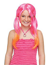 Pink and Orange Pigtail Wig