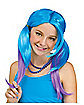 Purple and Blue Pigtail Wig