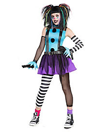 Tween Punk Clown Costume