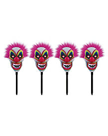 LED Scary Clown Lawn Stakes - Decorations