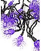 Purple LED Spider String Lights
