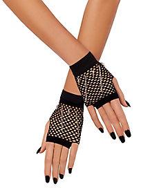 Black Mesh Chain Gloves