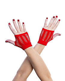 Red Shredded Gloves