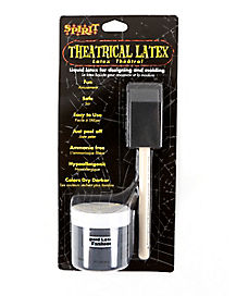 Black Liquid Latex and Brush Kit - 2 oz