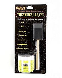 Neon Yellow Liquid Latex and Brush Kit - 2 oz