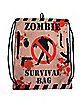 Zombie Survival Cinch Bag
