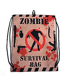 Zombie Survival Cinch Bag