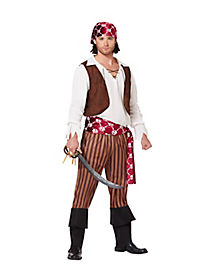 Shipwreck Pirate Adult Mens Costume