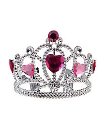 Princess Tiara with Pink Stones