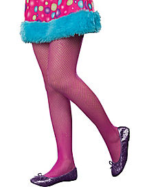 Kids Pink Fishnet Tights