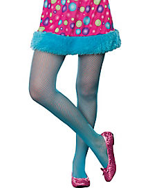 Blue Kids Fishnet Tights