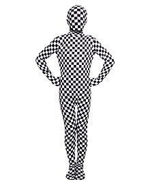 Kids Checkered Bodysuit Costume