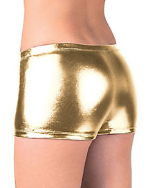 Gold Metallic Boyshorts