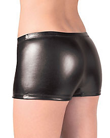 Metallic Boyshort Panties - Black