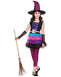 Kids Neon Witch Costume