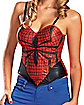 Adult Spider Girl Corset - Spiderman
