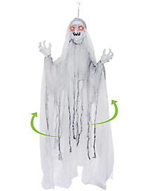 5 ft Spinning White Witch - Decorations