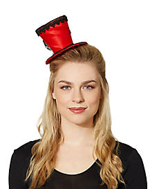 Red Mini Top Hat Fascinator