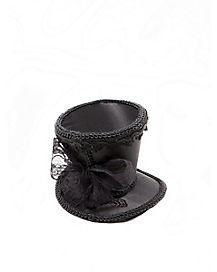 Black Mini Top Hat