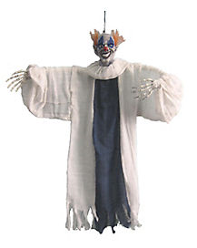 3 Ft Hanging Blue and White Clown - Decorations
