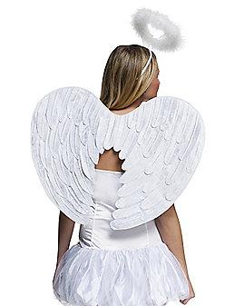 White Velvet Wings and Halo