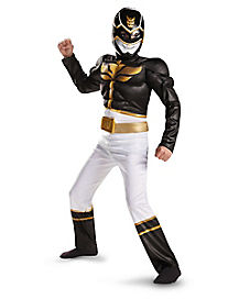 Kids Black Power Ranger Costume - Power Rangers Megaforce