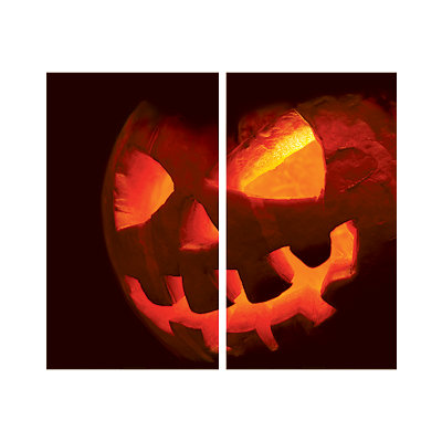 Scary Jack-O-Lantern Double Window Poster