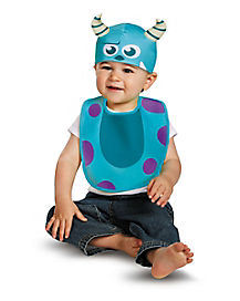 Monsters University Sulley Bib and Hat Set